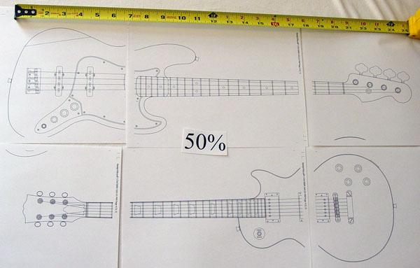 12 Electric Guitar Cutout Patterns